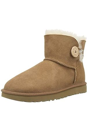 UGG UGG Female Mini Bailey Button II Classic Boot, Chestnut, 5