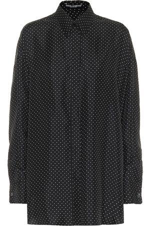 Dolce & Gabbana Camicia a pois in twill di seta