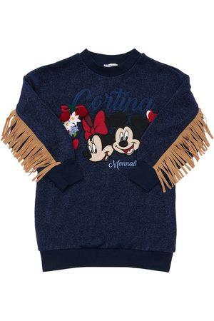 """MONNALISA Vestito """"minnie & Mickey Mouse"""" In Lurex"""