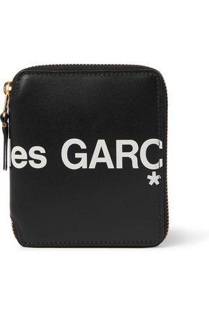 Comme des Garçons Logo-Print Leather Zip-Around Wallet