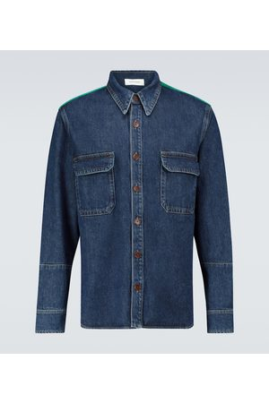 WALES BONNER Camicia Dub Contrast in denim