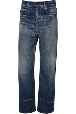 Saint Laurent Jeans Straight Leg In Denim Di Cotone 20cm