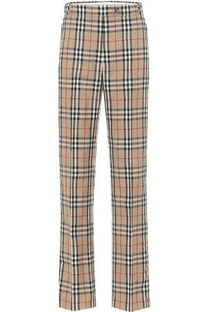 Burberry Pantaloni a quadri in lana