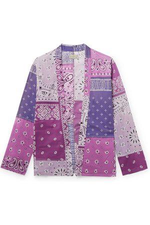 KAPITAL Kakashi Patchwork Bandana-Print Cotton-Gauze Shirt