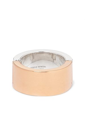 Bottega Veneta Uomo Anelli - Sterling and Gold-Plated Ring