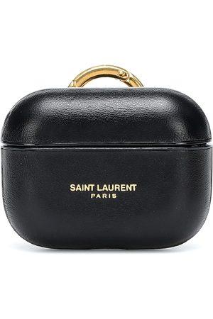 Saint Laurent Custodia per AirPods Pro in pelle