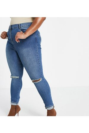 Yours Jeans skinny con strappi alle ginocchia vintage
