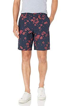 "Amazon Slim-Fit Lightweight Stretch 9"" Short Flat-Front-Shorts, Motivo Floreale Navy, 31"
