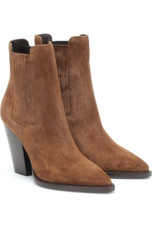 Saint Laurent Stivaletti Theo 95 in suede