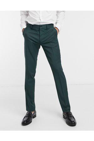 Jack & Jones Premium - Pantaloni da abito slim verdi