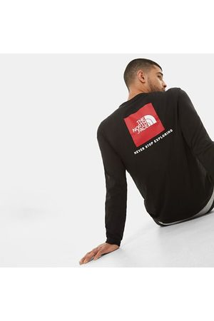 The North Face The North Face T-shirt Uomo Red Box A Maniche Lunghe Tnf Black
