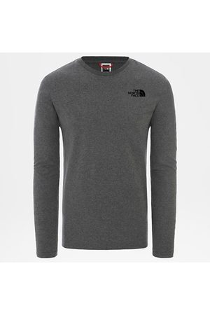 The North Face The North Face T-shirt A Maniche Lunghe Uomo Easy Tnf Medium Grey Heather