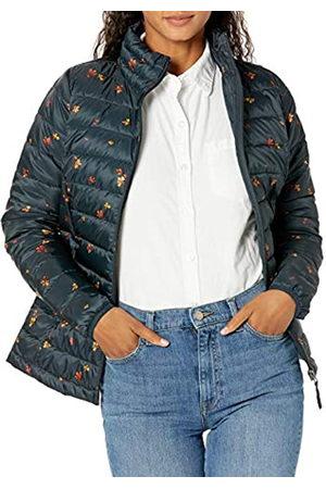 Amazon Giacca Leggera e Impermeabile Ripiegabile. Athletic-Insulated-Jackets, Motivo Floreale Navy, US XL