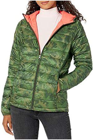 Amazon Giacca Leggera e Impermeabile con Cappuccio Athletic-Insulated-Jackets, Mimetico, US S