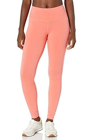 Amazon Performance Mid-Rise Full-Length Active Legging Leggings-Pants, Bright Coral, US L