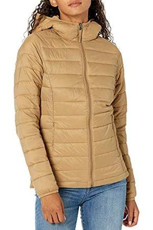 Amazon Giacca Leggera e Impermeabile con Cappuccio Athletic-Insulated-Jackets, Cammello, US S