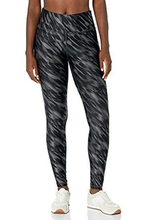 Amazon Performance Mid-Rise Full-Length Active Legging Leggings-Pants, Black Watercolor, US L