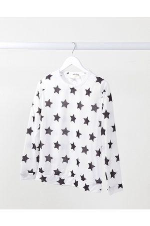 Outrageous Fortune Maglione da notte bianco con stampa di stelle