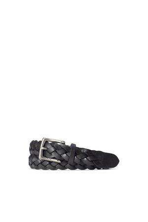 Polo Ralph Lauren Uomo Cinture - Cintura in pelle intrecciata