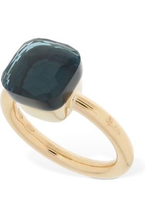 "Pomellato Anello ""nudo"" In 18kt Con Topazio Blu London"