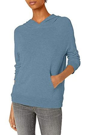 Daily Ritual Sandwashed Modal Blend Popover Hoodie Sweatshirt Athletic-Shirts, Washed Blue, 50-52