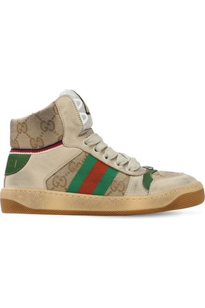 Gucci Sneakers In Tela Gg Con Web