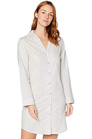 IRIS & LILLY Camicia da Notte a Manica Lunga in Cotone Donna, ., S, Label: S