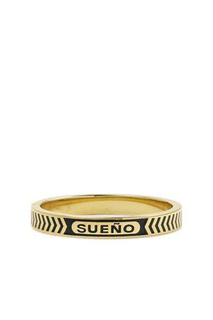Foundrae Uomo Anelli - Dream 18-Karat Gold and Enamel Ring