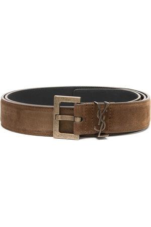 Saint Laurent Uomo Cinture - Cintura con fibbia quadrata