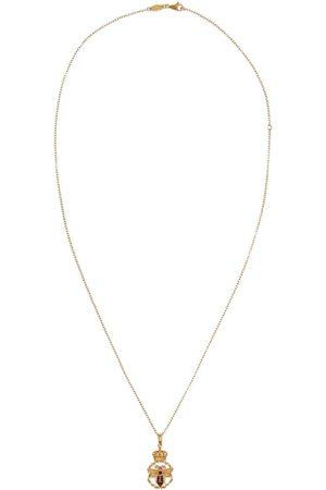 Dolce & Gabbana Collana con pendente King in 18kt con diamanti