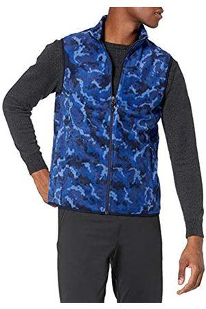 Amazon Gilet in Pile con Zip Intera Outerwear-Vests, Mimetico, 43-44