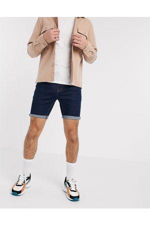 ASOS Pantaloncini di jeans skinny indaco
