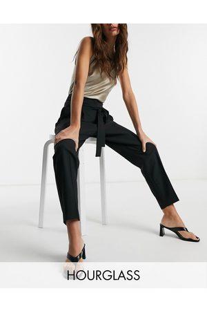 ASOS Hourglass - Pantaloni sartoriali alla caviglia affusolati e allacciati in vita