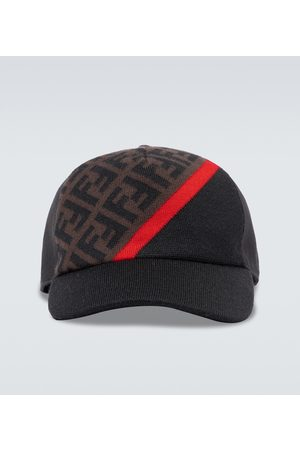 Fendi Cappello da baseball in lana FF