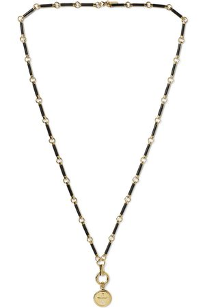 Foundrae Dream 18-Karat , Diamond and Onyx Necklace