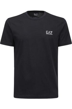 EA7 T-shirt In Jersey Di Cotone Con Logo