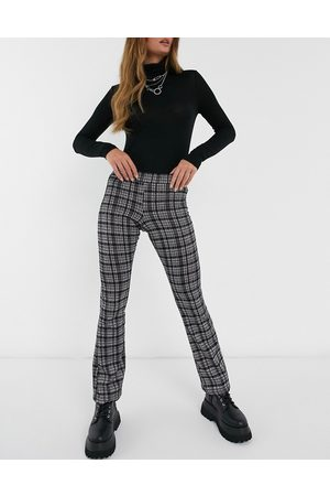 Daisy Street Donna Leggings & Treggings - Pantaloni a zampa a quadri vintage