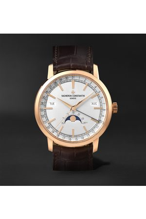 Vacheron Constantin Uomo Orologi - Traditionnelle Complete Calendar Automatic 41mm 18-Karat Pink Gold and Alligator Watch, Ref. No. 4010T/000R-B344