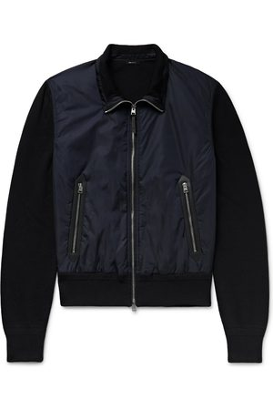 Tom Ford Uomo Giacche di pelle - Leather-Trimmed Wool and Nylon Jacket