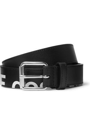 Comme des Garçons Uomo Cinture - 3cm Logo-Print Leather Belt