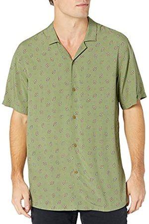 Goodthreads Standard-Fit Short-Sleeve Camp Collar Hawaiian Shirt Athletic-Shirts, Green Diamond, US L
