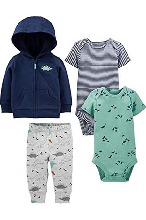 Simple Joys by Carter's 4-Piece Jacket, Pant, Bodysuit Set Infant-And-Toddler-Pants-Clothing-Sets, Navy Dino, 6-9 Months