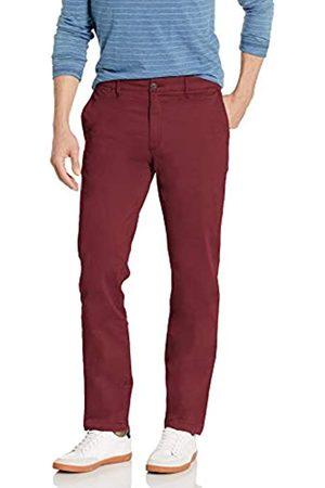 Goodthreads Marchio Amazon - , The Perfect Chino Pant, pantaloni chino elasticizzati, da uomo, aderenti, effetto lavato, comodi, Burgundy, 32W / 32L