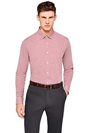 FIND Marchio Amazon - Hem & Seam Slim Fit Gingham, Camicia formale, Uomo, ,, , 37 cm, Label: XS
