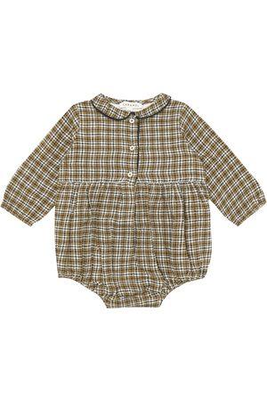 Caramel Baby - Pagliaccetto Wryneck a quadri in cotone e lana