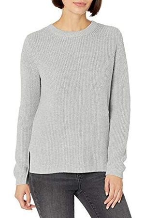 Goodthreads Cotton Half-Cardigan Stitch Crewneck Sweater Sweaters, Porpora, S