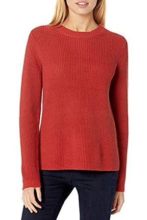 Goodthreads Cotton Half-Cardigan Stitch Crewneck Sweater Sweaters, Bossa Nova, M