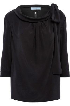 Prada Bow-detail half-sleeve blouse