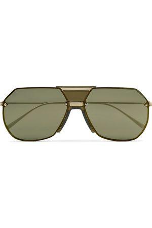 Bottega Veneta Uomo Occhiali da sole - Aviator-Style -Tone Mirrored Sunglasses