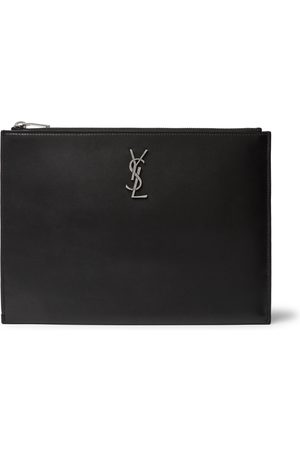 Saint Laurent Uomo Portafogli e portamonete - Logo-Appliquéd Leather Pouch